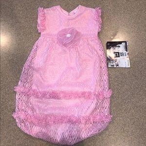 Newborn pink Cach Cach bunting gown nwt 0-3 mos